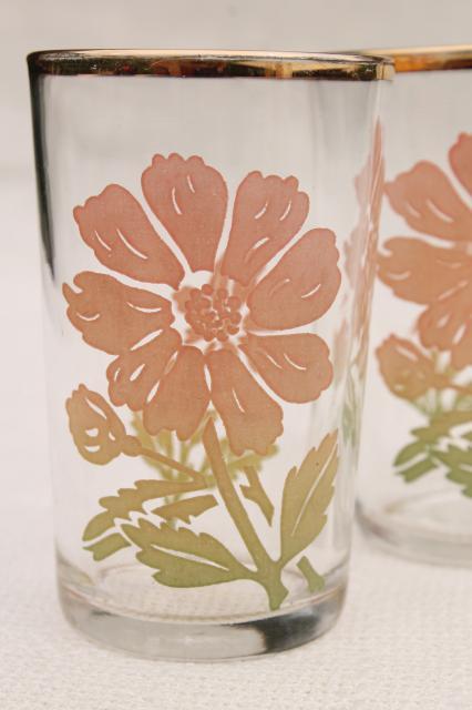 Vintage Drinking Glasses Depression Era Kitchen Glass