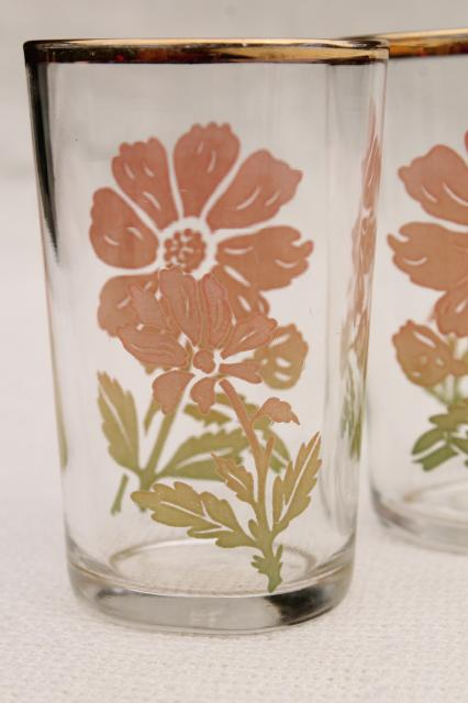 Vintage Drinking Glasses Depression Era Kitchen Glass