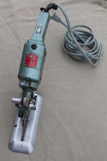Vintage Electric Fabric Cutter Speed Cutter Industrial