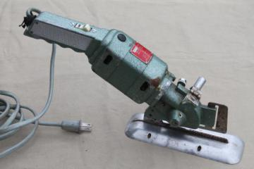 vintage electric fabric cutter, Speed Cutter industrial rotary cloth cutting tool