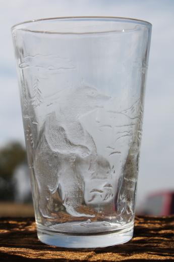 Embossed Glass Tumblers
