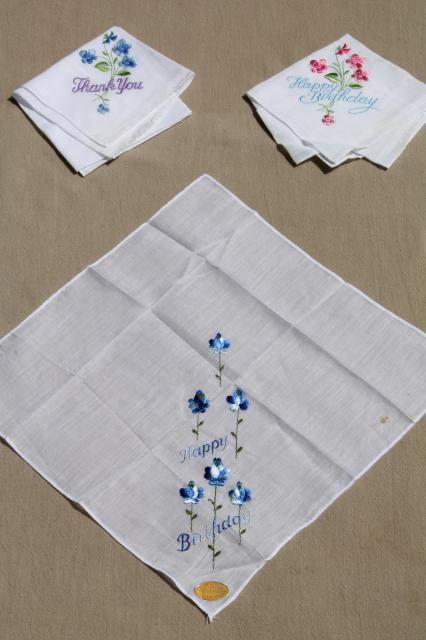 1940s genuine vintage hankies - Accessories Of Old