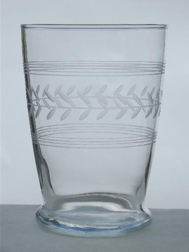 Vintage Etched Laurel Drinking Glasses Laurel Amp Band