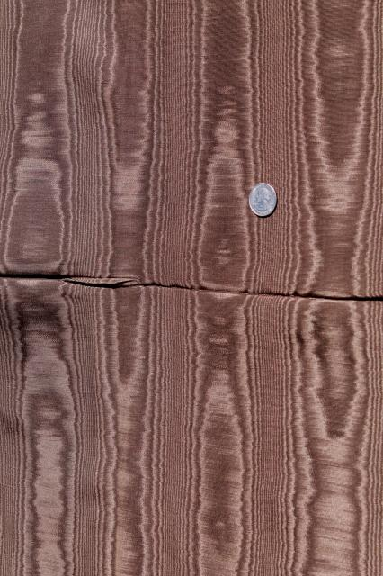fabric lot, taffeta & heavy moire home decor fabrics green & old ...