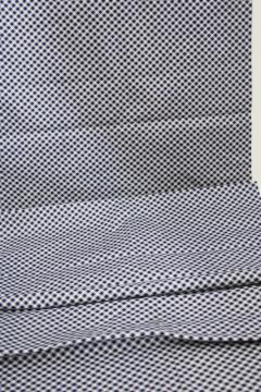 vintage fabric w/ navy blue & white checkered print, quilting or shirt weight cotton