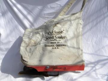 vintage farm broadcast seeder Cyclone Seed Sower for grass & grains