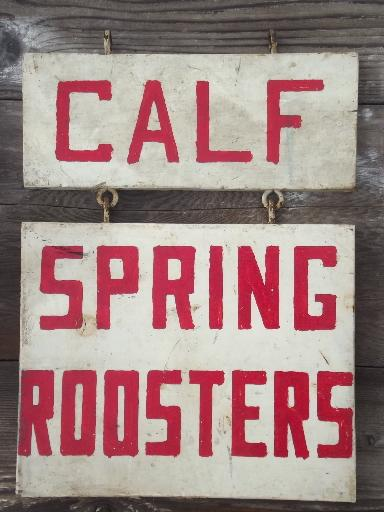 Vintage Farm Signs Primitive Painted Wood Board Sign Boards For