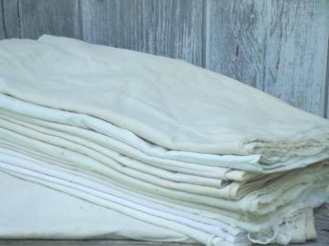 vintage feed sacks & flour sacks, unbleached  cotton grain bag fabric