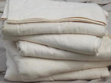 vintage flannel camp  blankets, natural unbleached cotton sheet blankets
