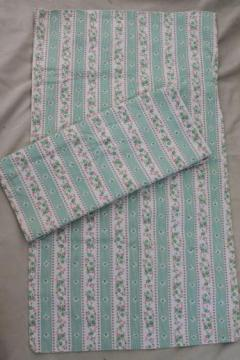 vintage floral stripe cotton ticking fabric pillow covers for feather bed pillows