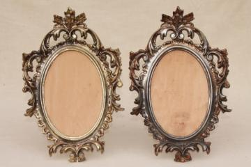 vintage florentine style Italian gold rococo plastic picture frames or frame for oval mirror
