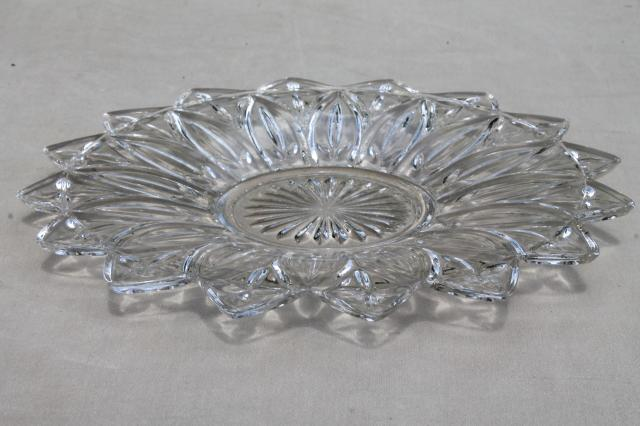 Crystal Cake Serving Dishes