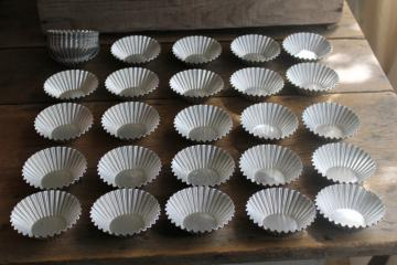 vintage fluted round mini tart pans or flan / jello molds, individual serving size