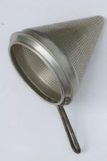 Old Fashioned Food Colander Strainer
