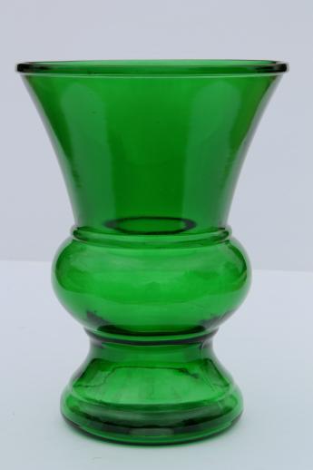 Vintage Forest Green Glass Vase Huge Retro Glass Vase For Flowers Or Branches