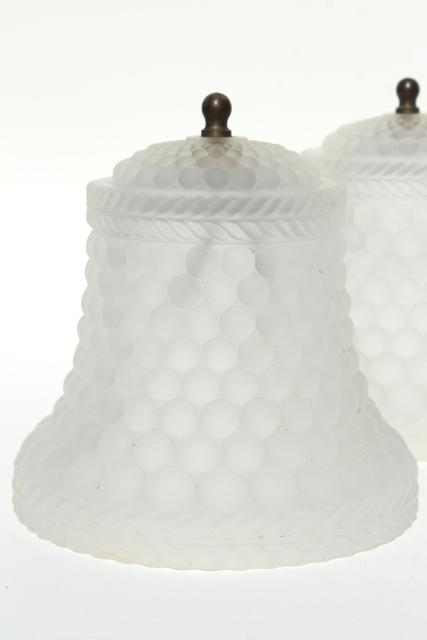 Frosted crystal glass light shades clip on lampshades or ceiling vintage frosted crystal glass light shades clip on lampshades or ceiling fixture lights mozeypictures Image collections