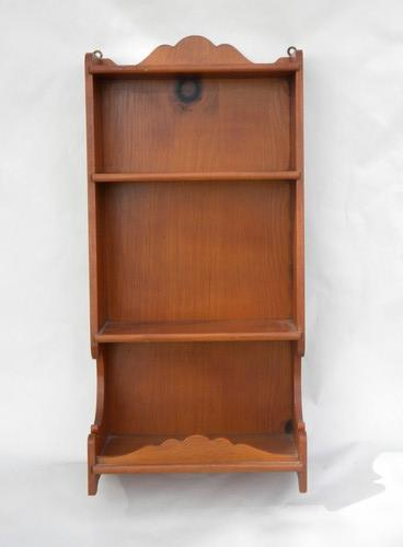 vintage furniture, solid country pine wall shelf, small bookshelves for kitchen