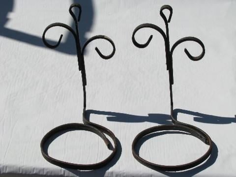 Vintage Garden Wrought Iron Wall Sconce Flower Pot Holders