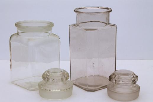 Vintage Gl Apothecary Jars Old Counter Penny Candy Jar Canisters