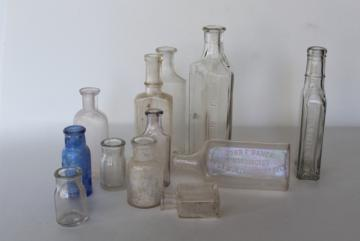 Old Antique Gl Bottles And Jars