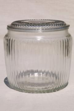 vintage glass canister, old general store counter jar for candy, peanuts or cigars