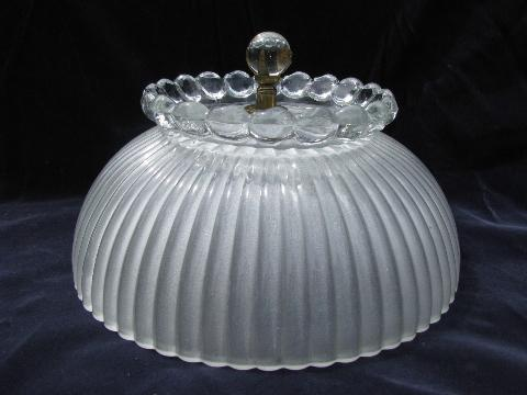 vintage glass ceiling light shade old aladdin crystal ball finial