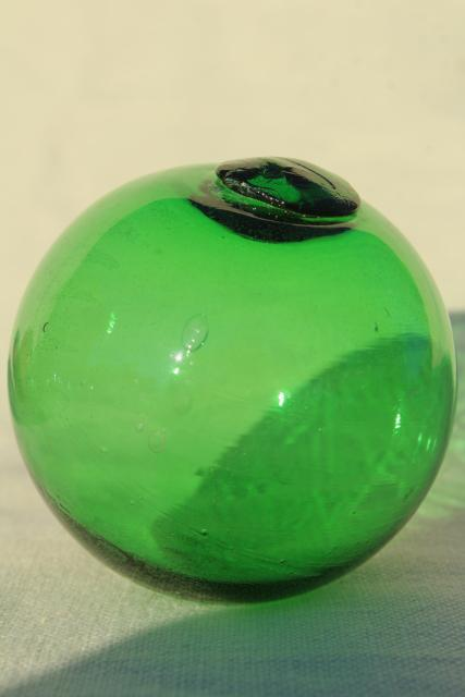 Vintage Glass Fishing Net Floats Hand Blown Glass Balls