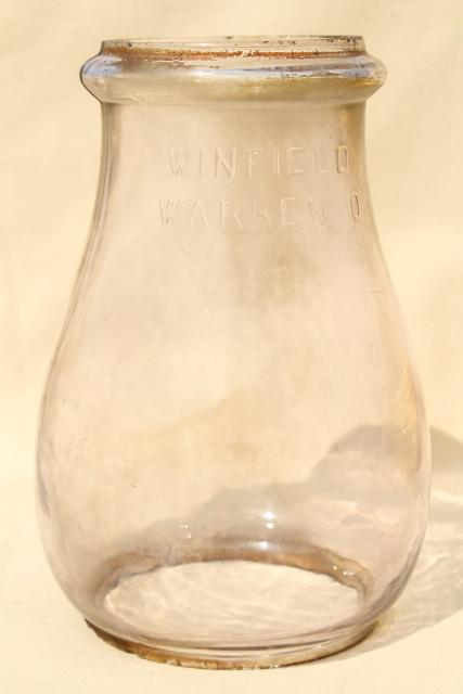 Vintage Glass Globe Winfield Warren Replacement Lamp Shade For Railroad Or Barn Lantern