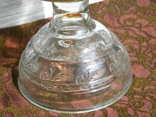 vintage glass kerosene or oil lamps w/hurricane chimneys P&A Risdon