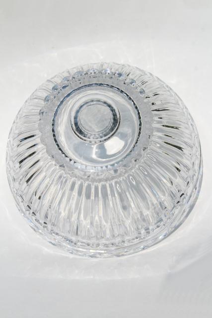 Vintage Glass Lampshade Bowl Shaped Heavy Crystal Shade