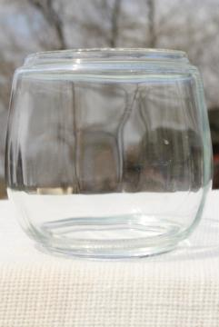 vintage glass lantern globe, replacement lamp shade for railroad or barn lantern