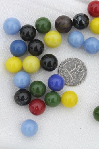 Glass Marbles Game : Vintage glass marbles for chinese checkers or other game
