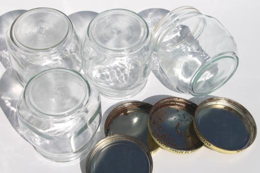 vintage glass pantry jars lot, large glass jar canisters for bulk food storage