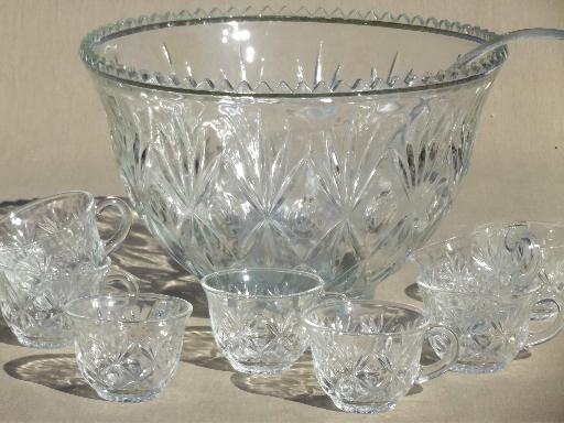 Clear Glass Punch Cups