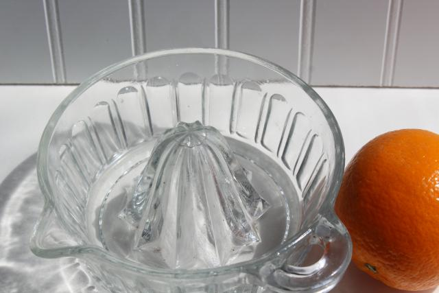 vintage glass reamer, orange juicer sized for grapefruit or oranges