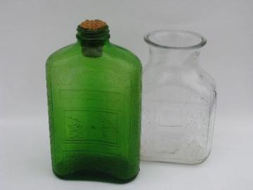 vintage glass refrigerator bottles, water carafes for fridge
