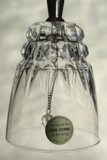 Vintage Glass Table Service Bells Cut Crystal Princess