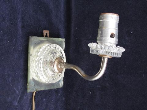 vintage glass wall lamp sconces, sconce light lot for restoration or parts