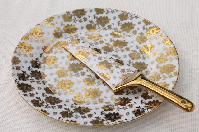 vintage gold chintz china cake plate u0026 server w/ encrusted gold ... Vintage Gold Chintz China Cake Plate Server W Encrusted Gold & Amazing Cake Plate And Server Ideas - Best Image Engine - maxledpro.com