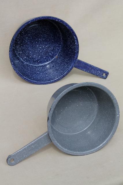 Vintage Graniteware Enamel Sauce Pans All Metal Camp