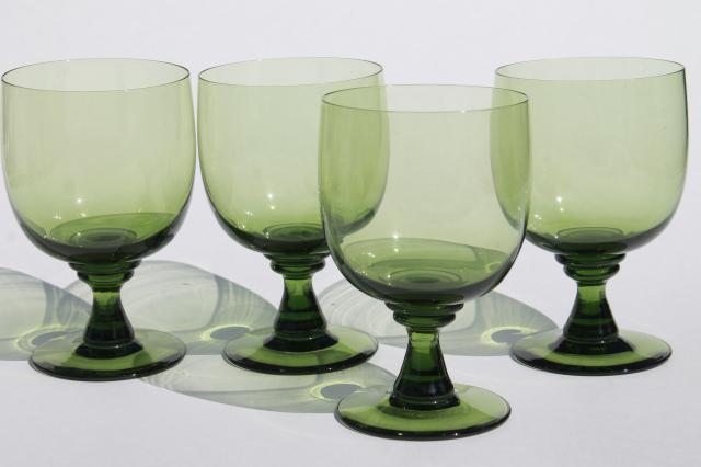glass Vintage stemware green