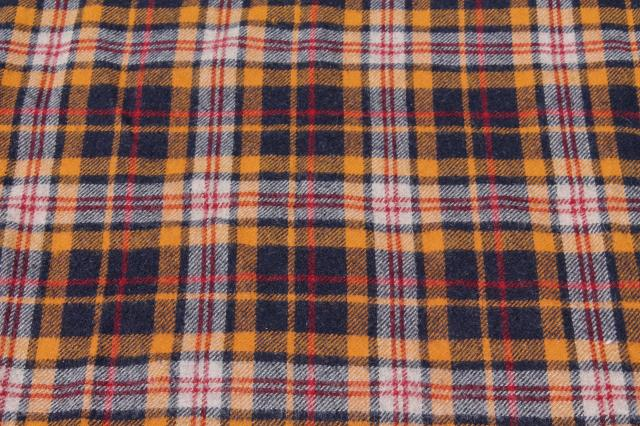 vintage grey & plaid wool camp blanket lot, rustic primitive old wool blankets