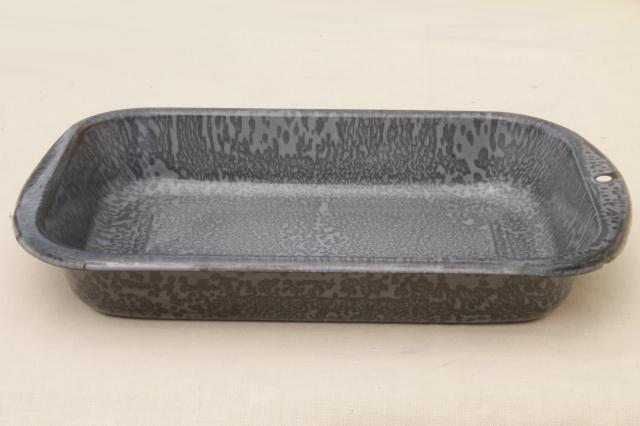 vintage grey spatterware graniteware enamel old. Black Bedroom Furniture Sets. Home Design Ideas