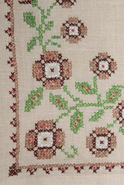 Vintage Guest Towels Fingertip Hand Towel Embroidered