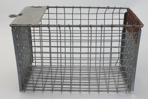Vintage Wire Locker Baskets | Jonathan Steele
