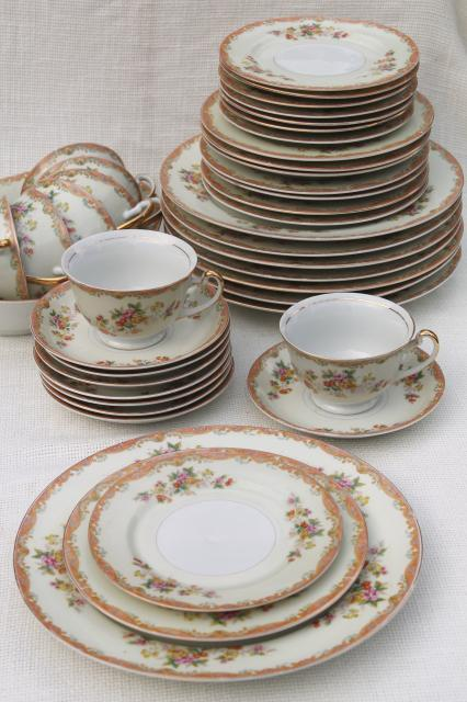 Vintage Hand Painted Made In Japan Esco Fine China Dinnerware