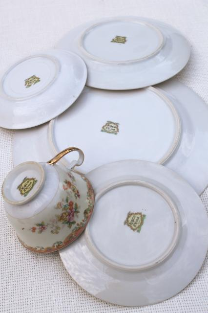 vintage hand painted Made in Japan Esco fine china dinnerware service for 8 & hand painted Made in Japan Esco fine china dinnerware service for 8