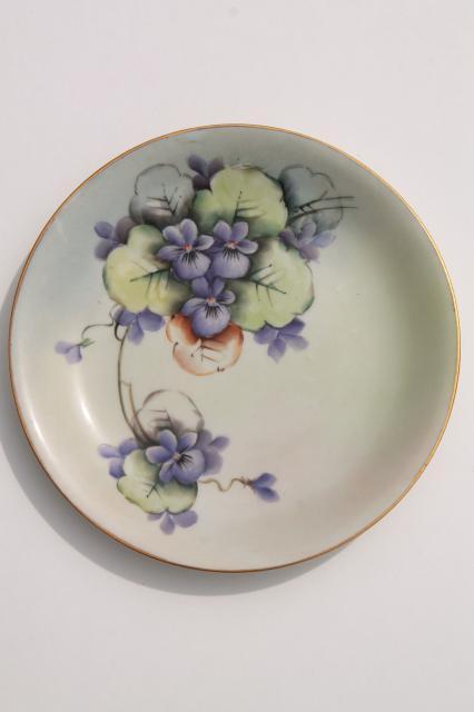 vintage hand painted china dessert plates fruit u0026 flowers decorative plate collection & vintage hand painted china dessert plates fruit u0026 flowers ...