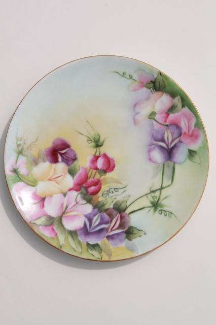 vintage hand painted china dessert plates fruit \u0026 flowers decorative plate collection & hand painted china dessert plates fruit \u0026 flowers decorative plate ...