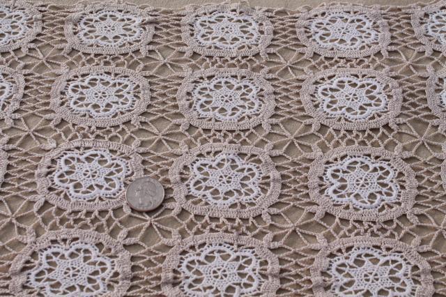 Handmade Lace Table Runner Or Dresser Scarf White Crochet